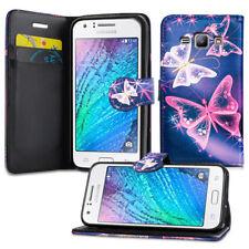 Para Samsung Galaxy Core Prime G360F Ace 4 Libro de Cuero PU Billetera Abatible Estuche Cubierta