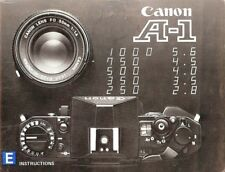CANON A-1 SLR 35mm CAMERA OWNERS INSTRUCTION MANUAL canon A1 from 1970s