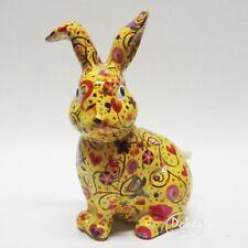 POMME PIDOU - exklusive Spardose - Keramikfigur HASE Helena gelb / Mustermix