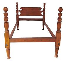 18Th Century Antique Federal Period Cannonball Four Poster Bed ~ Fine Turnings