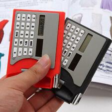 Creative Multifuction 3 In 1 Card Holder Case Solar Power Calculator Useful
