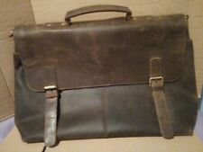 Men's Leather Briefcase Satchel Business Bag Brown USED