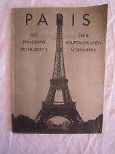 RARE c. 1944 PARIS Principle Monuments Pictorial Souvenir Guide CPL J.D. MORGAN*