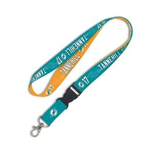 Miami Dolphins Ryan Tannehill Jersey #17 Player Lanyard NFL Autographed Printed