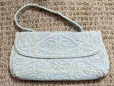 VTG ~RARE~ Roger & Gallet ~ 62 Faubourg Saint-Honoré Paris~ Beaded Purse Blue