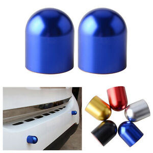 2PCS Blue Universal Bump Protector Spike Guards For Car Front or Rear Bumpers A