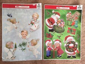 Christmas Window Clings Ruth Morehead Santa Angels Decorations