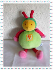 A - Doudou Peluche  Abeille Louna Florimond Verte Rose Orange  Moulin Roty