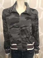 Splendid Womens Green Grey Camo Full Zip Front Sweatshirt Jacket Size M NWT $158