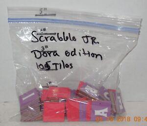 Parker Brothers Dora The Explorer Scrabble Jr replacement piece 105 Tiles