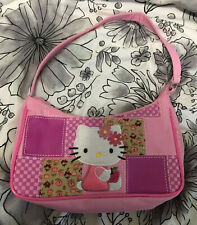 Hello Kitty Pink Patchwork Women or Girl Kids Purse Bag Vintage