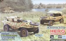 Hero Hobby 1/35 German Pkw.K2s Schwimmwagen Type 166 (2 n 1 kit) - H35003