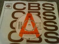 "CHAMBERS BROTHERS - (BY THE HAIR ON) MY CHINNY CHIN CHIN 7"" 45 RPM UK PROMO CBS"