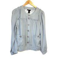 BCBGmaxazria Top Blouse  Women's Size M Long Sleeve  Button Down Color Cloud New
