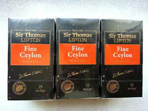 Tea black Sir Thomas Lipton Fine Ceylon 25 bags x 3 boxes
