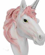 Unicorn Head Pink 19cm Wall Mount Hanging Bust Fantasy Decoration Wall Art 3D