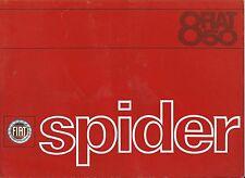 FIAT 850 SPIDER 1964 langue italienne brochure prospekt catalogue Excellent