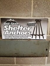 """DEWITTAuger Anchor Storage Shed Kit Tie Down """"INCLUDES 4 ANCHORS AND 40 FT ROPE"""""""