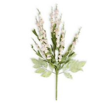 K&K Interiors 24 Inch Cream and Pink Lavender Flower Floral Stem Spray