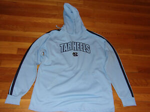NORTH CAROLINA TAR HEELS LONG SLEEVE HOODIE MENS LARGE EXCELLENT CONDITION