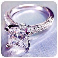 New! 2.89 Ct Princess Brilliant Cut Diamond Engagement Ring H,SI1 EGL USA Plat
