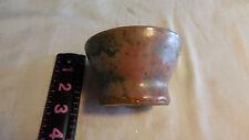 Stamped AC Green Bowl Dish  Handmade Pottery Ceramics
