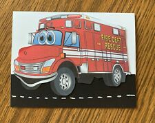 fire truck homemade birthday card
