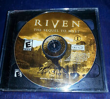 RIVEN THE SEQUEL TO MYST  5 DISC PC 2000