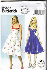 Vintage 50s Retro Sun Dress Butterick Sewing Patterns by Gertie 12 14 16 18 20