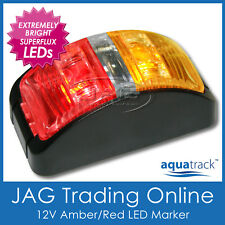 12V SUPERFLUX LED AMBER/RED MARKER/CLEARANCE LIGHT - Boat/Trailer/Truck/Caravan