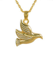 Cremation Gold Flying Dove Necklace Urn Memorial Pendant Jewelry 225NODVGL