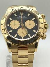 ROLEX DAYTONA 18kYELLOW GOLD WATCH PAUL NEWMAN DIAL ENGRAVED INNER BEZEL
