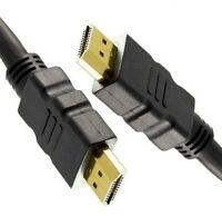 5m LONG HDMI Cable High Speed With Ethernet v1.4 FULL HD 2K 3D GOLD BLACK Lead