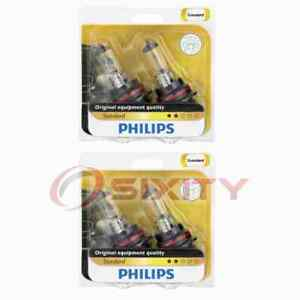 2 pc Philips High Low Beam Headlight Bulbs for Mitsubishi Endeavor Galant ig
