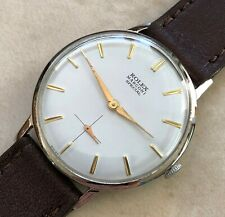 VTG ROLEX MARCONI SPECIAL WHITE DIAL NICKEL PLATED CASE FROM 1945 APROX.