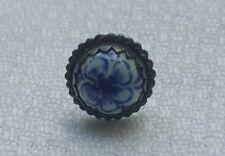 Tack Lapel Pin Retro Vintage Blue Flower Tie