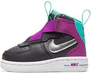 "Nike Air Force 1 ""Highness"" Thunder Grey/Hyper Violet/Aurora Green-Silver"