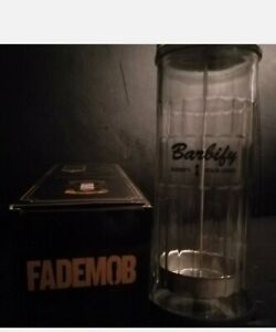 Blue Solution Sterilising Barbicide users Jar Glass Cup Clippercide big