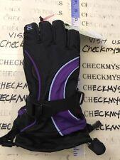 HEAD Junior Ski Snowboard Winter Glove Black Purple LG L 12 14 Girls