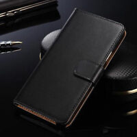 Genuine Leather Flip Stand Case Wallet Cover Skin For Sony Xperia Z5 Compact