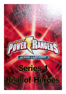 POWER RANGERS ACTION CARD GAME SERIES 1 - RISE OF HEROES single cards