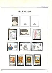 [OP4734] Vatican lot of very fine MNH stamps on 12 pages