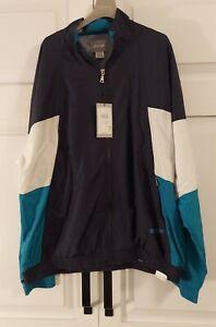 Asics Men's Track Jacket CB Windbreaker Midnight Blue 2191A034-400 Size XXL NWT