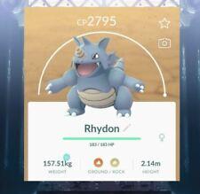 Pokémon Go Level 35 Max Rhydon!~perfect evolve into rhyperior!! ~fast trade~