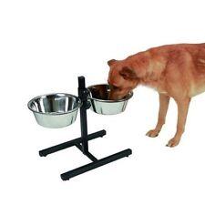 gamelle double pour chien réglable en hauteur inox