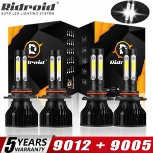 For Dodge RAM 1500 2500 3500 - 2013 2014 2015 LED Headlight Lamps High Low Bulbs