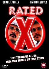 Rated X DVD Charlie Sheen Emilio Estevez Rafer Weigel UK Release New Sealed R2