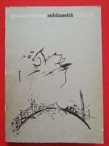 """Giosetta FIORONI """"Subitaneità"""" libro d'artista con dedica autografa o"""