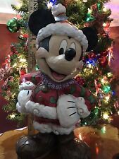 JIM SHORE Christmas Traditions MICKEY MOUSE Disney LARGE Outdoor SANTA FIGURINE