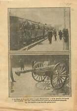 WWI Poilus Train Gare Montparnasse/Canon 75 Invalides de Paris 1915 ILLUSTRATION